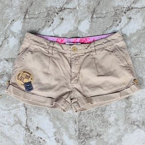 Pink Victoria Secret Patch Shorts